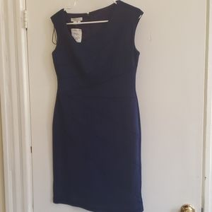 London Times 10p blue ruched dress